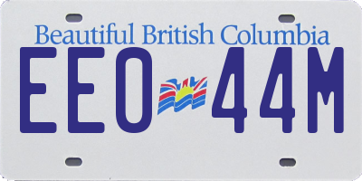 BC license plate EE044M