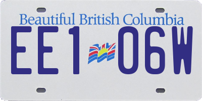 BC license plate EE106W
