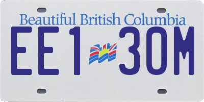 BC license plate EE130M