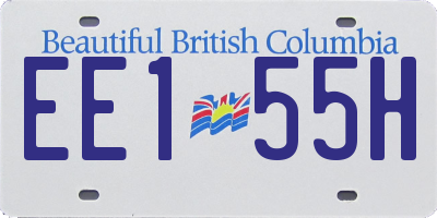 BC license plate EE155H