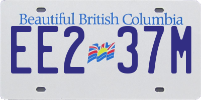BC license plate EE237M