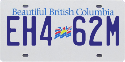 BC license plate EH462M