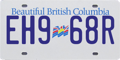 BC license plate EH968R