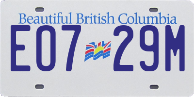 BC license plate EO729M