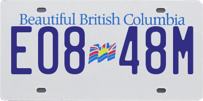 BC license plate EO848M