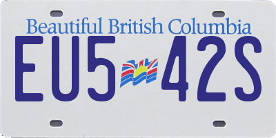 BC license plate EU542S