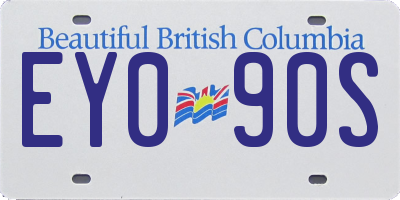 BC license plate EY090S