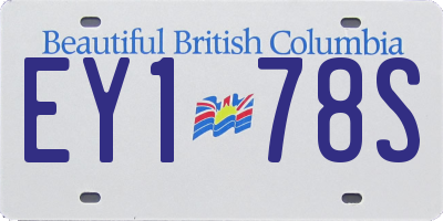 BC license plate EY178S