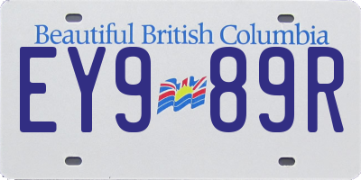 BC license plate EY989R