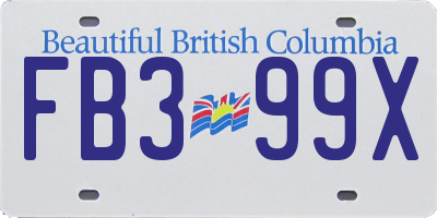 BC license plate FB399X