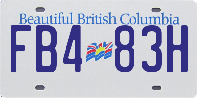 BC license plate FB483H