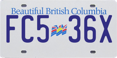 BC license plate FC536X