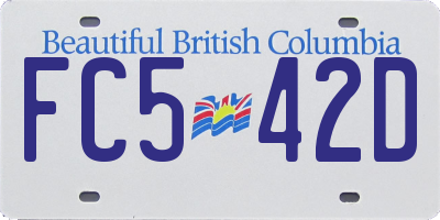 BC license plate FC542D