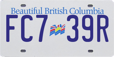 BC license plate FC739R