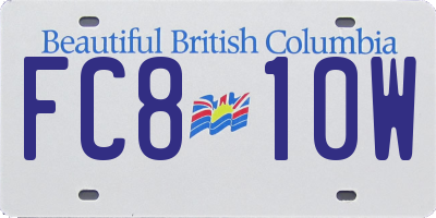 BC license plate FC810W