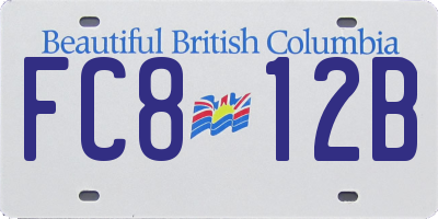 BC license plate FC812B