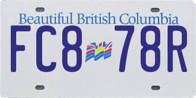 BC license plate FC878R
