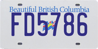 BC license plate FD5786
