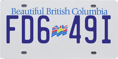 BC license plate FD649I