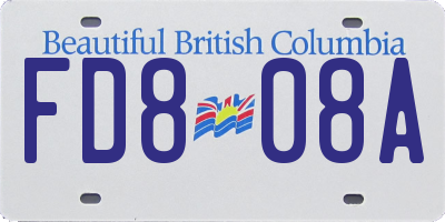BC license plate FD808A