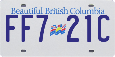 BC license plate FF721C