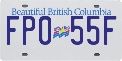 BC license plate FP055F