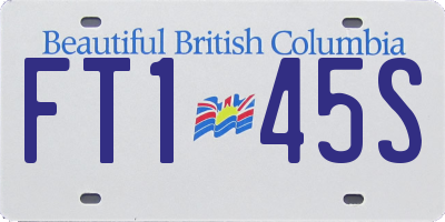 BC license plate FT145S