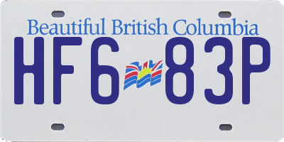 BC license plate HF683P