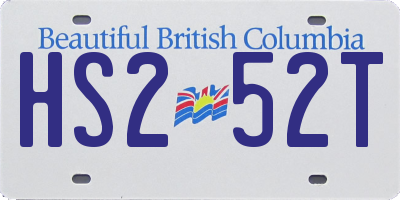 BC license plate HS252T