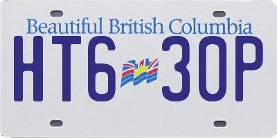 BC license plate HT630P
