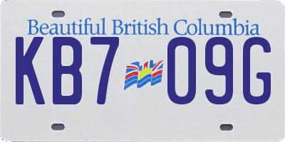 BC license plate KB709G