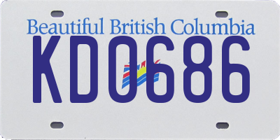BC license plate KD0686