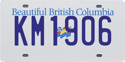 BC license plate KM1906
