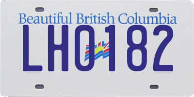 BC license plate LH0182