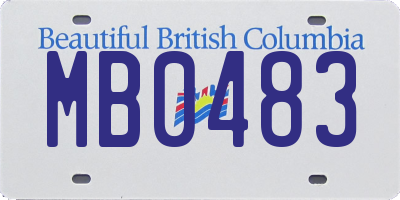 BC license plate MB0483