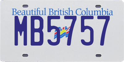 BC license plate MB5757