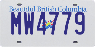 BC license plate MW4779