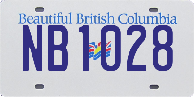 BC license plate NB1028
