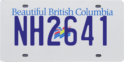 BC license plate NH2641