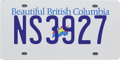 BC license plate NS3927