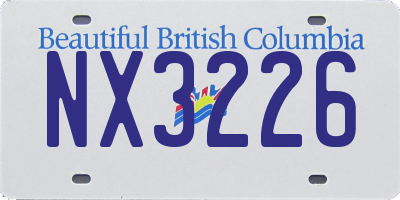 BC license plate NX3226