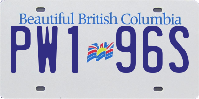 BC license plate PW196S