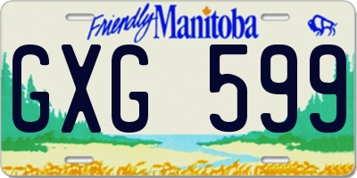 MB license plate GXG599
