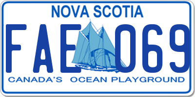 NS license plate FAE069