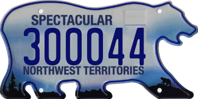 NT license plate 300044