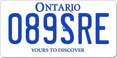 ON license plate 089SRE