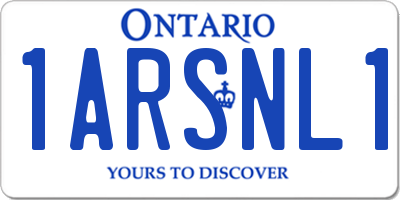 ON license plate 1ARSNL1