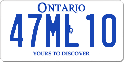 ON license plate 47ML10