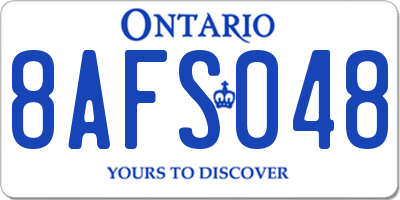 ON license plate 8AFS048