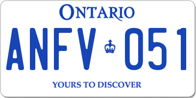 ON license plate ANFV051